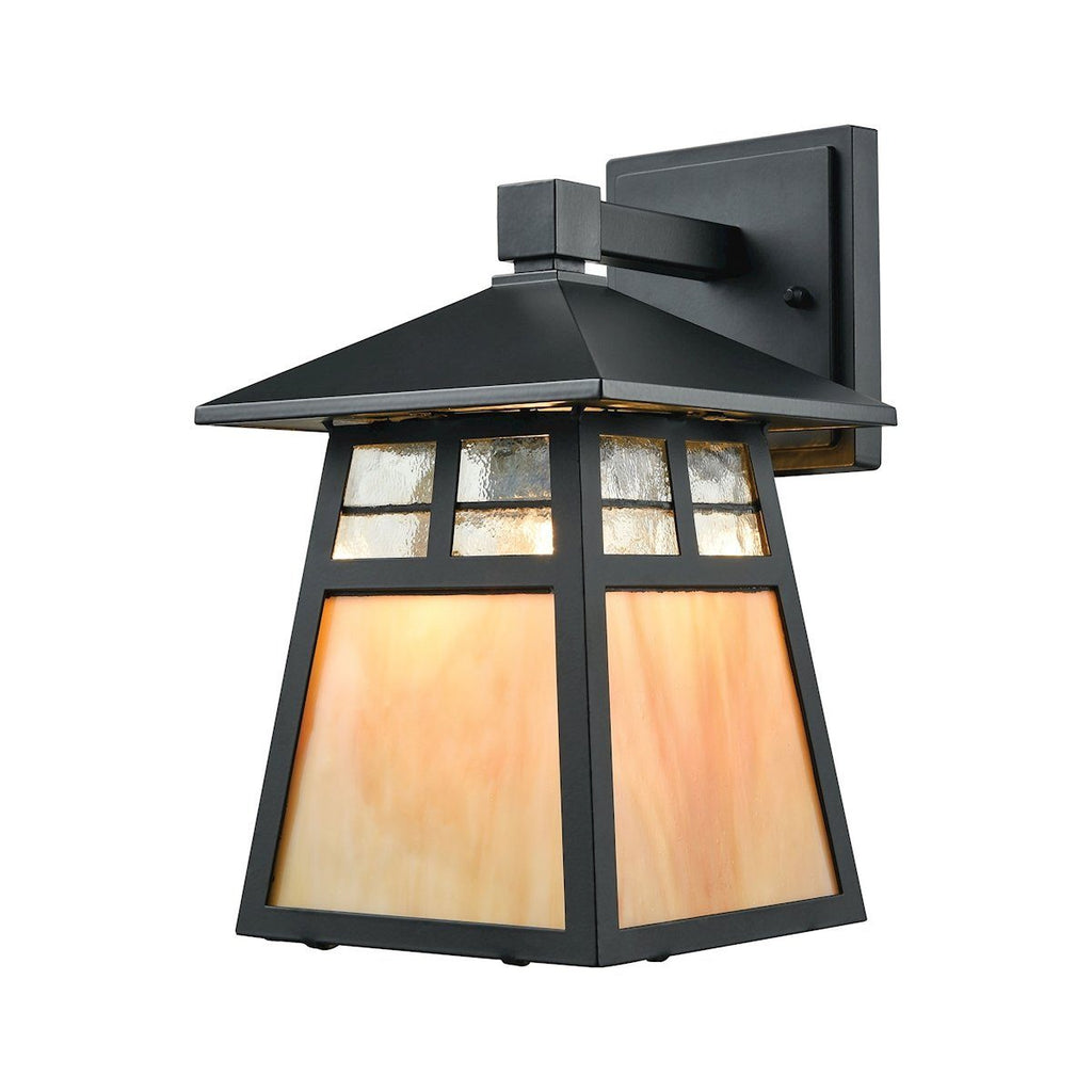 Cottage 1 Light Outdoor Wall Sconce In Matte Black Outdoor Wall Elk Lighting