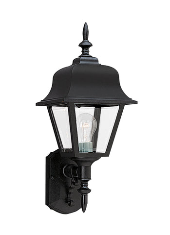One Light Outdoor Wall Lantern - Black