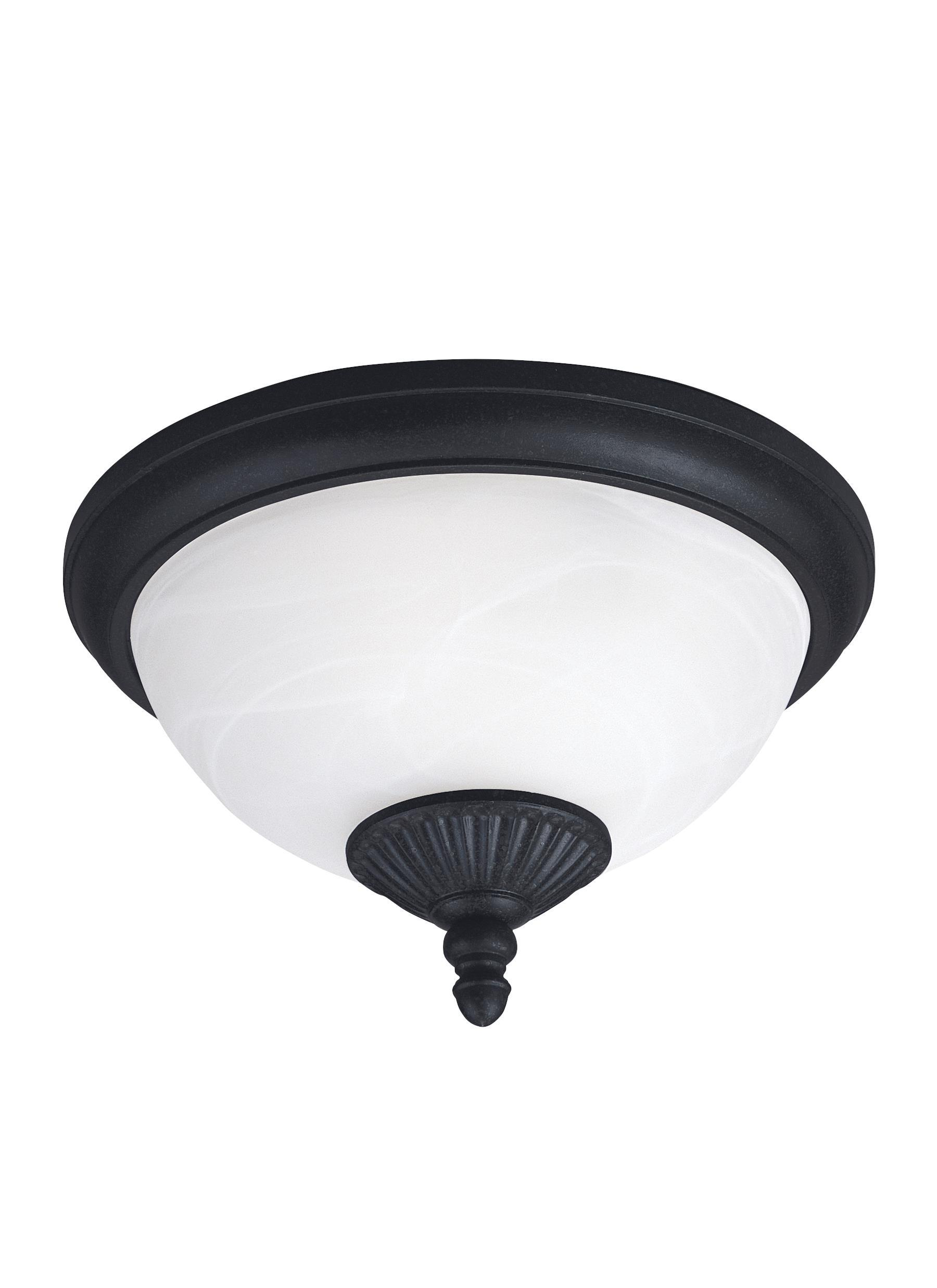 Yorktown Two Light Outdoor Ceiling Flush Mount - Forged Iron