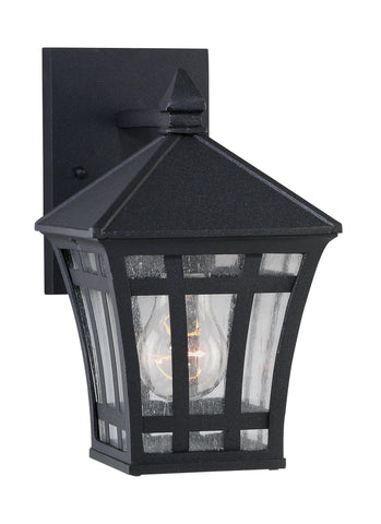 Herrington One Light Outdoor Wall Lantern - Black