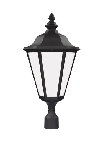 Brentwood One Light Outdoor LED Post Lantern - Black