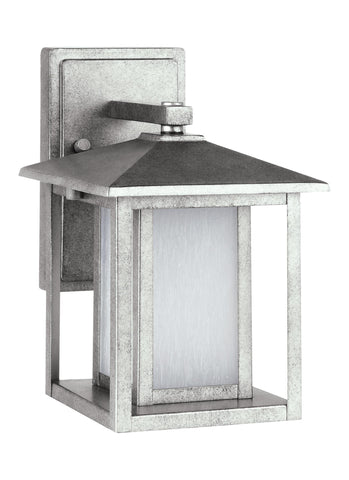 Hunnington Small LED Outdoor Wall Lantern - Weathered Pewter