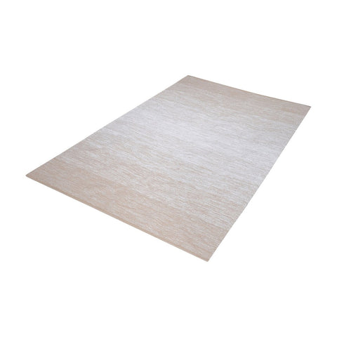 Delight Handmade Cotton Rug In Beige And White - 3 Size Options