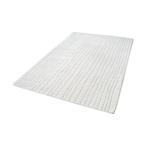 Blockhill Handwoven Wool Rug In Cream - 2 Size Options