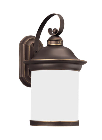 Hermitage One Light Outdoor LED Wall Lantern - Bronze