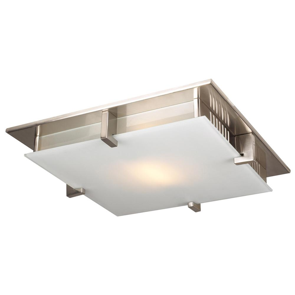 "Polipo 12""w Ceiling Fixture - Satin Nickel Ceiling PLC Lighting"