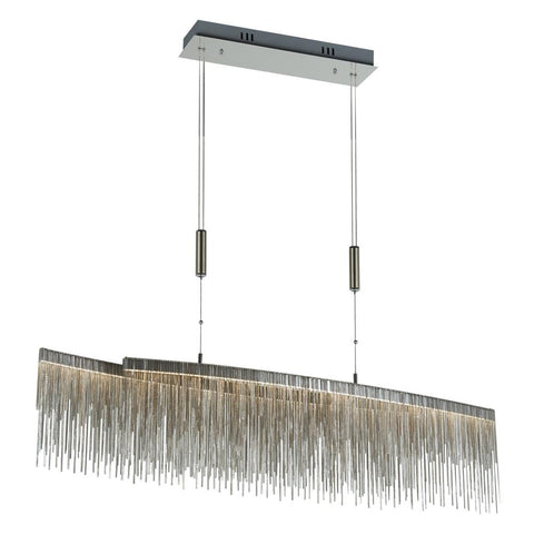 "Davenport 45""w Hanging Pendant - Chrome Ceiling PLC Lighting"