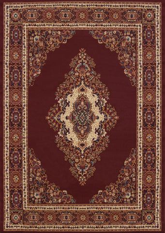"Manhattan Cathedral Burgundy Rug (5 Sizes) Rugs United Weavers 1'10"" x 3' Mat"