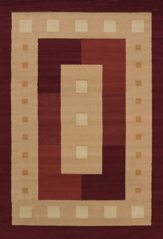"Manhattan Time Square Burgundy Accent Rug 1'10"" x 3'"