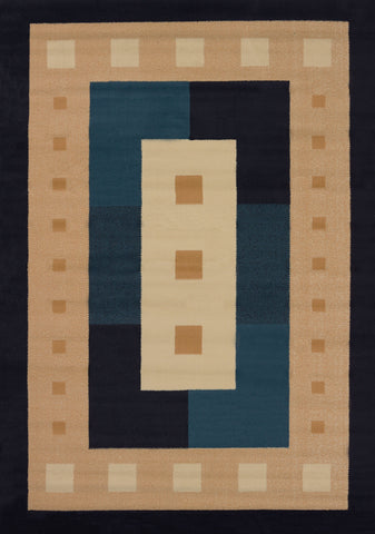 Manhattan Time Square Navy Rug (5 Sizes)