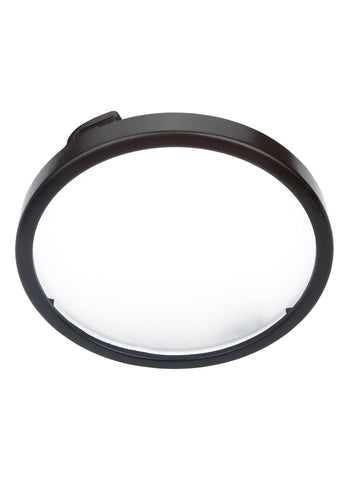 Xenon Disk Light Diffuser Trim - Black Under Cabinet Lighting Sea Gull Lighting