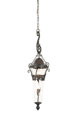 Anastasia Outdoor 2 Light Medium Hanging Lantern Outdoor Kalco Black