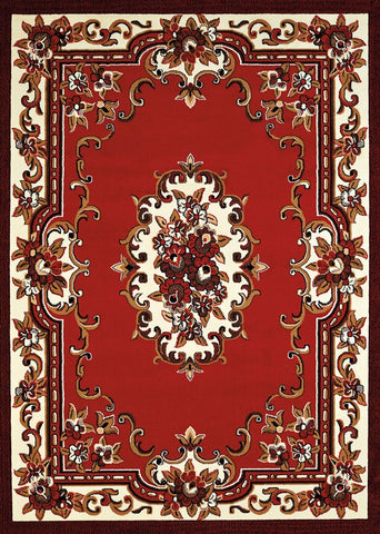 Cafe Demitasse Red Rug - 4 Sizes Available