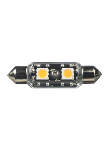 12V Clear T3 Festoon 3000K LED Lamp