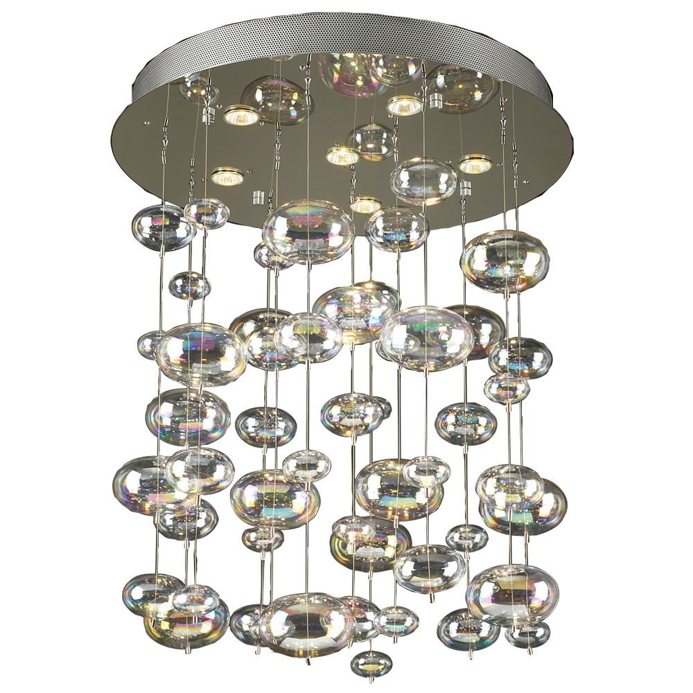 Bubbles 6-Light Pendant Chandelier Ceiling PLC Lighting