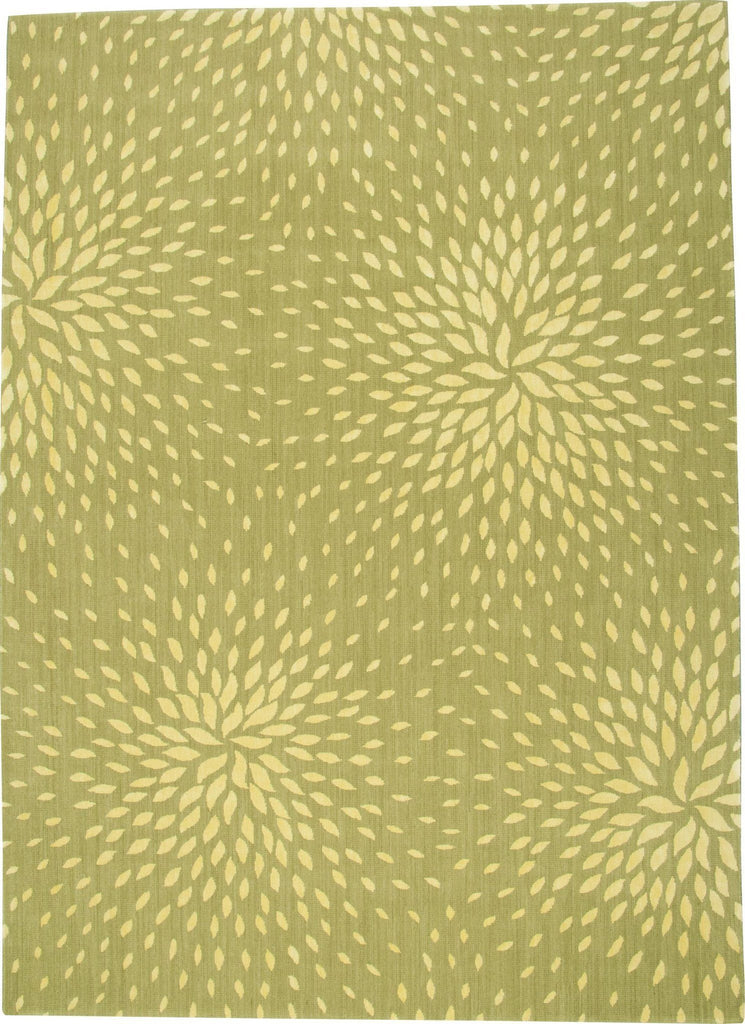 "Capri Light Green Rug - 4 Size Options Rugs Nourison 3'6"" x 5'6"" Accent"