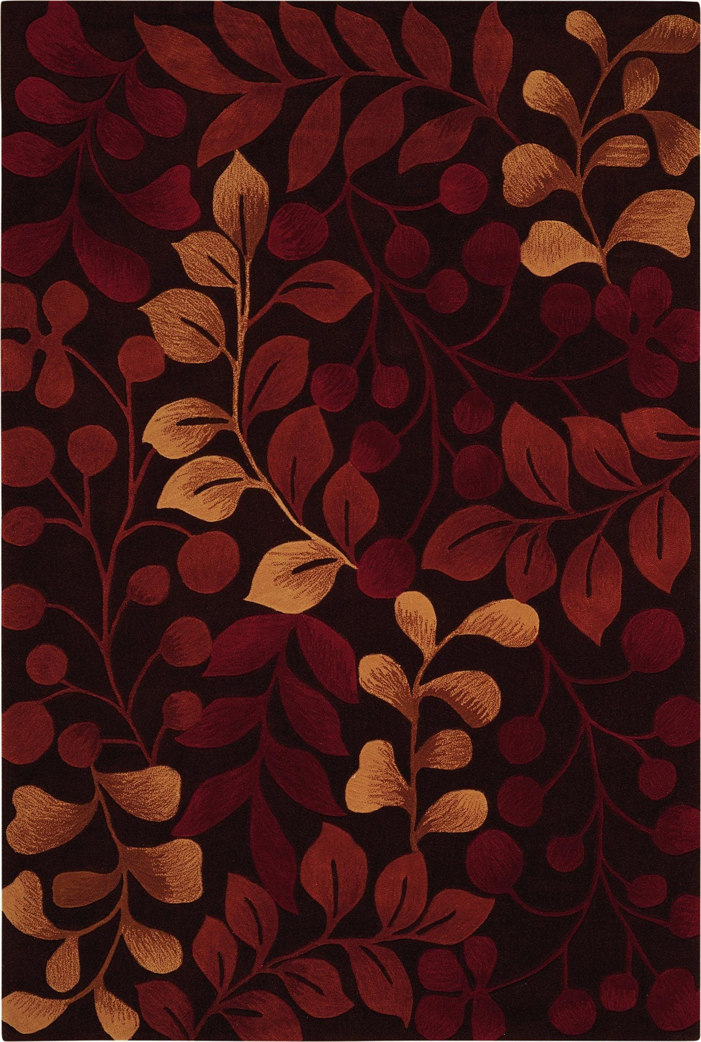 "Contour Chocolate Rug - 4 Size Options Rugs Nourison 3'6"" x 5'6"" Accent"