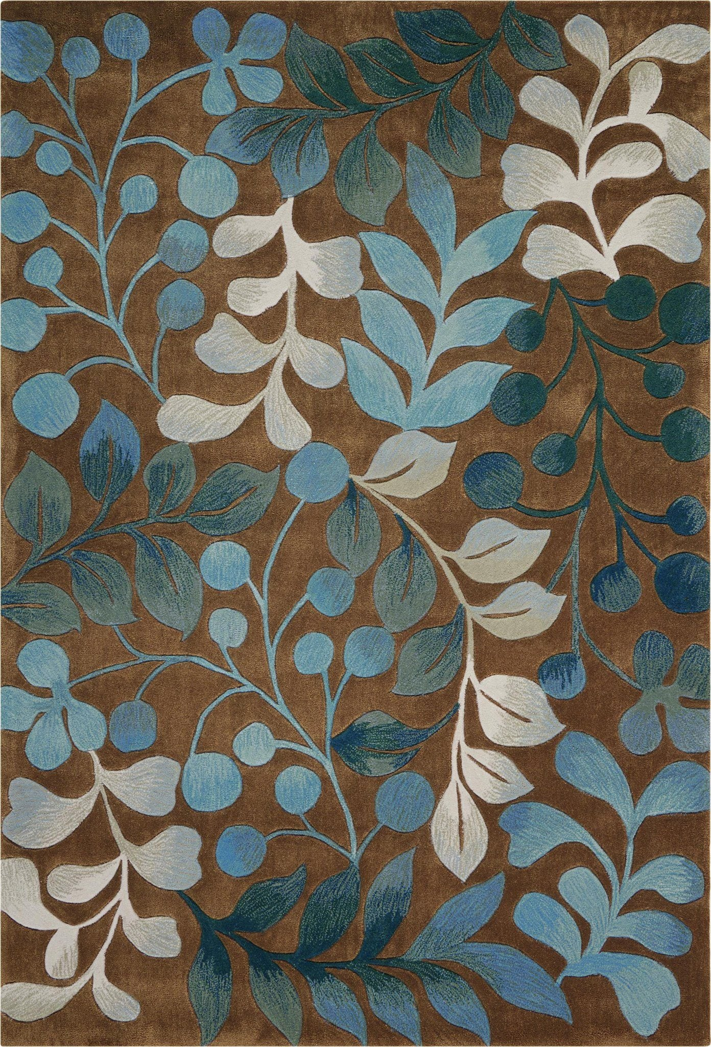 "Contour Mocha Rug - 4 Size Options Rugs Nourison 3'6"" x 5'6"" Accent"