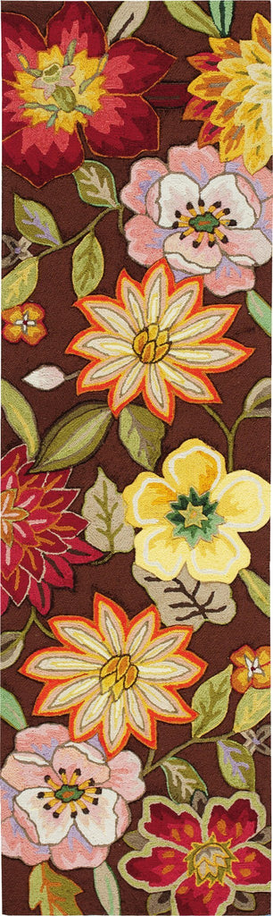 "Fantasy Chocolate Rug - 6 Size Options Rugs Nourison 2'3"" x 8' Runner"