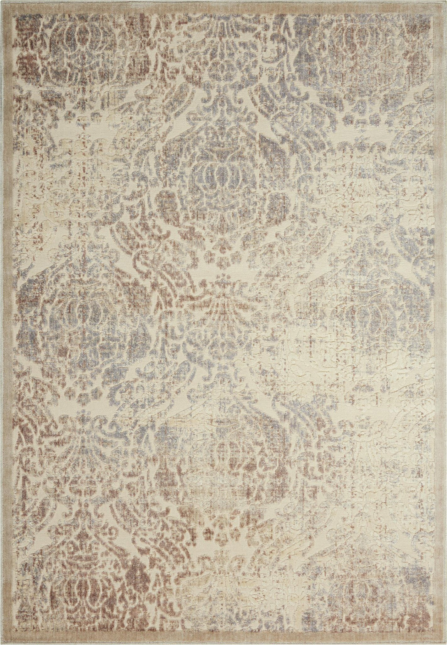 "Graphic Illusions Ivory Rug - 10 Size and Shape Options Rugs Nourison 2'3"" x 3'9"" Mat"