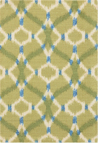 Waverly Sun & Shade Izmir Ikat Avocado Indoor/Outdoor Rug By Nourison 10' x 13'