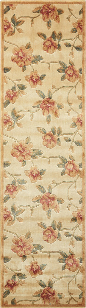 "Cambridge Ivory Rug - 6 Size Options Rugs Nourison 2'3"" x 8' Runner"