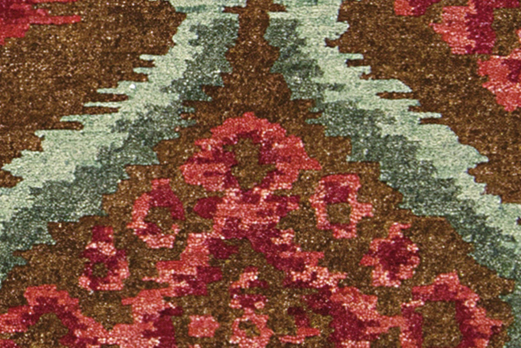 "Tahoe Modern Brown Red Rug - 7'9"" x 9'9"" Large Rugs Nourison 7'9"" x 9'9"" Large"