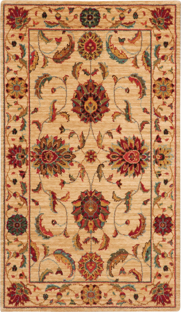 "Living Treasures Ivory Rug - 10 Size and Shape Options Rugs Nourison 2'6"" x 4'3"" Mat"