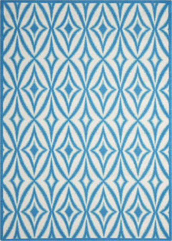"Waverly Sun & Shade Centro Azure Indoor/Outdoor Rug By Nourison 5'3"" x 7'5"""