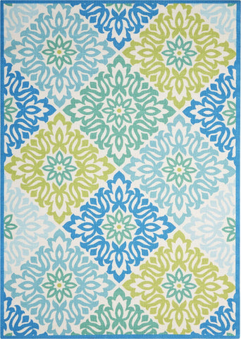 "Sun & Shade Sweet Things Marine Indoor/Outdoor Rug - 3 Size Options Rugs Nourison 5'3"" x 7'5"""