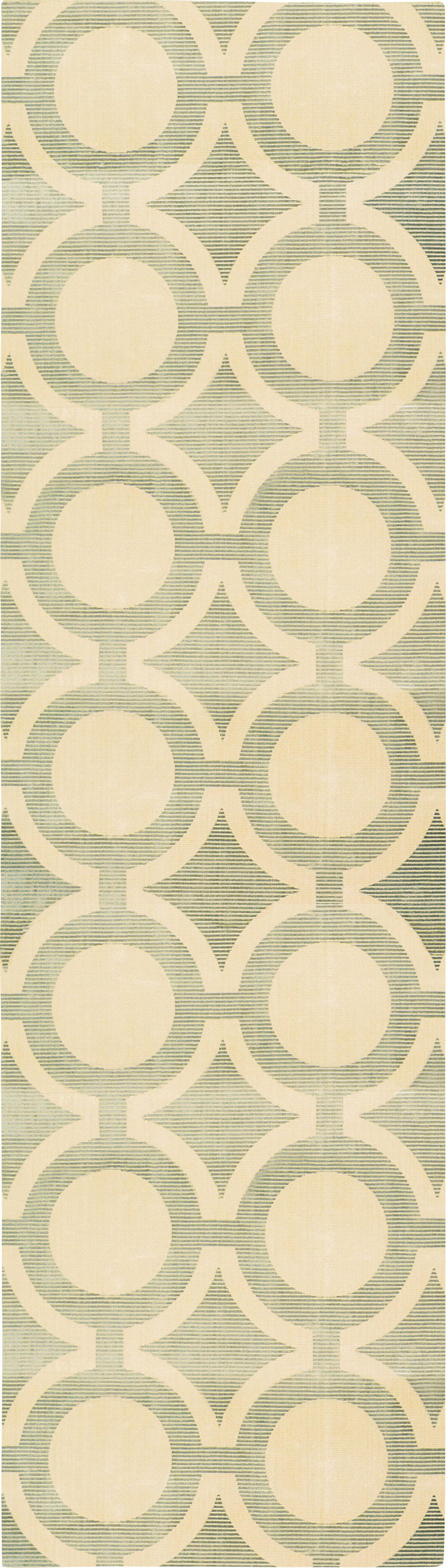 "Luminance Cream Grey Rug - 5 Size Options Rugs Nourison 2'3"" x 8' Runner"