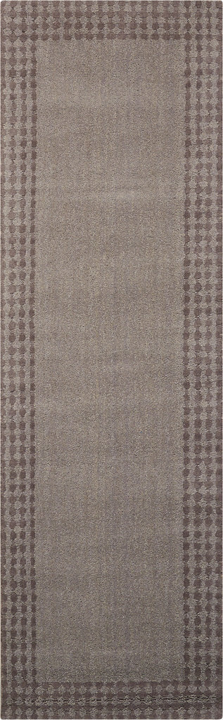 "Cottage Grove Steel Area Rug 2'3"" x 7'6"" Rugs Nourison Gray"