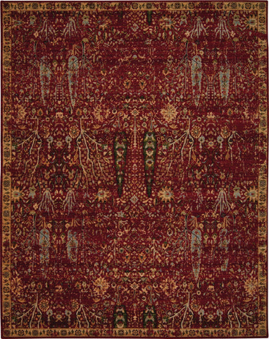 "Timeless Scarlet Rug - 4 size Options Rugs Nourison 5'6"" x 8' Area"
