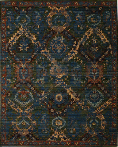 "Timeless Seaglass Rug - 4 size Options Rugs Nourison 5'6"" x 8' Area"