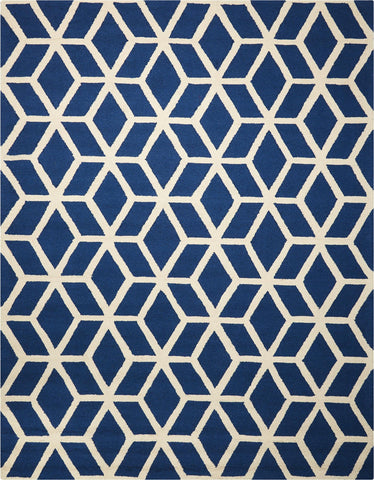 Linear Blue Ivory Rug - 5 Size Options
