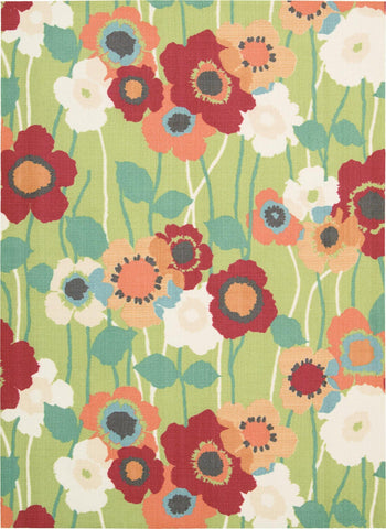 Waverly Sun & Shade Pic-A Poppy Seaglass Indoor/Outdoor Rug By Nourison 10' x 13'