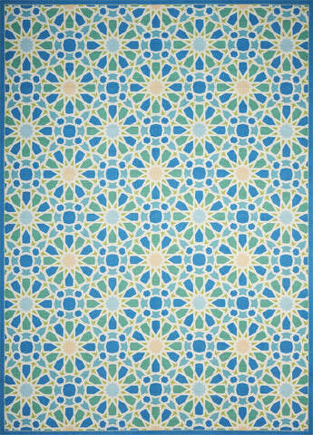 Waverly Sun & Shade Starry Eyed Porcelain Indoor/Outdoor Rug By Nourison 10' x 13'