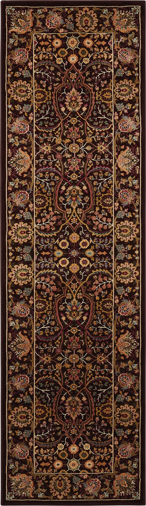 "Antiquities American Jewel Espresso Rug - 8 Size and Shape Options Rugs Nourison 2'2"" x 7'6"" Runner"