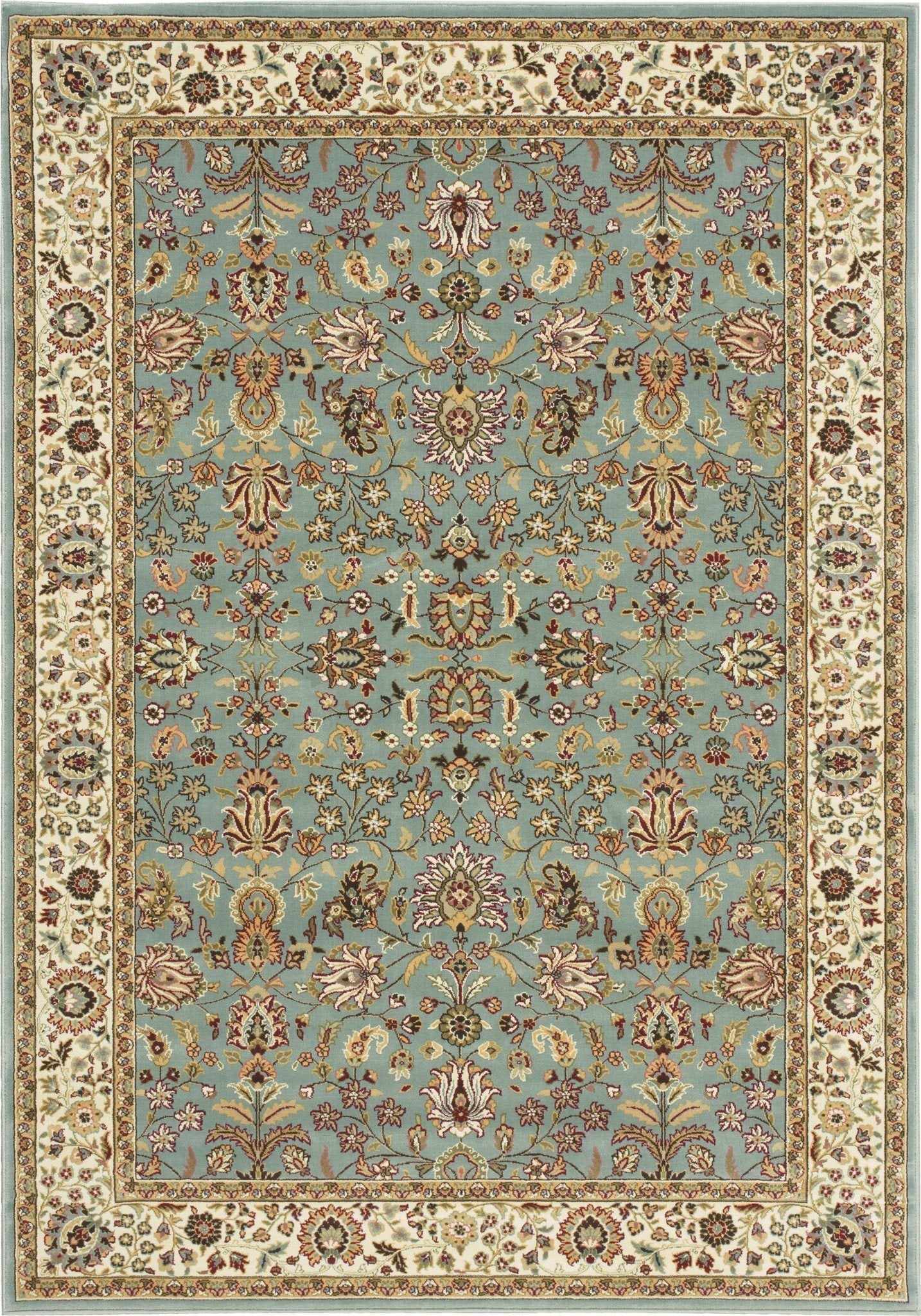"Antiquities Royal Countryside Slate Blue Rug - 8 Size and Shape Options Rugs Nourison 3'9"" x 5'9"" Accent"