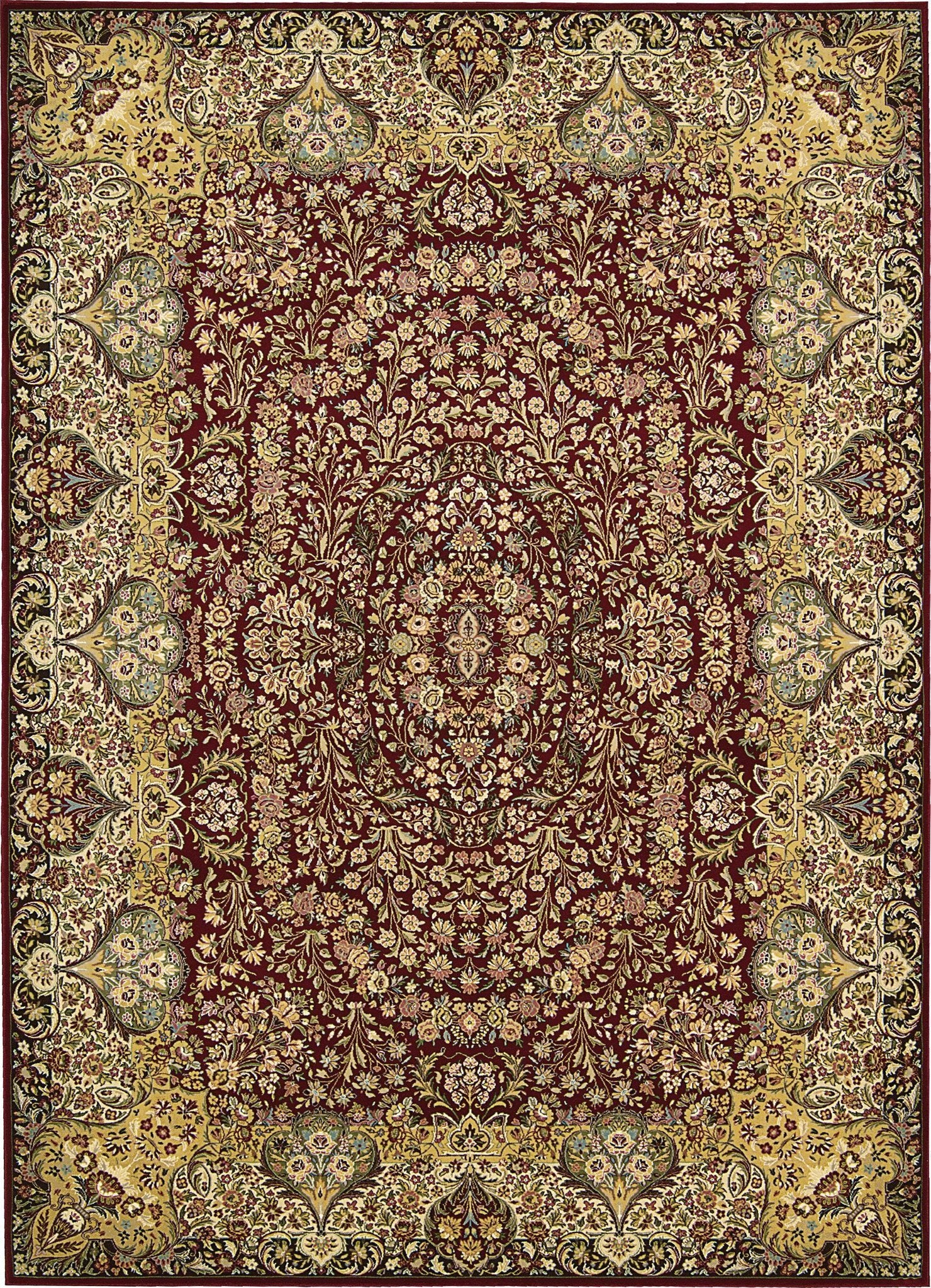 "Antiquities Stately Empire Burgundy Rug - 8 Size and Shape Options Rugs Nourison 3'9"" x 5'9"" Accent"