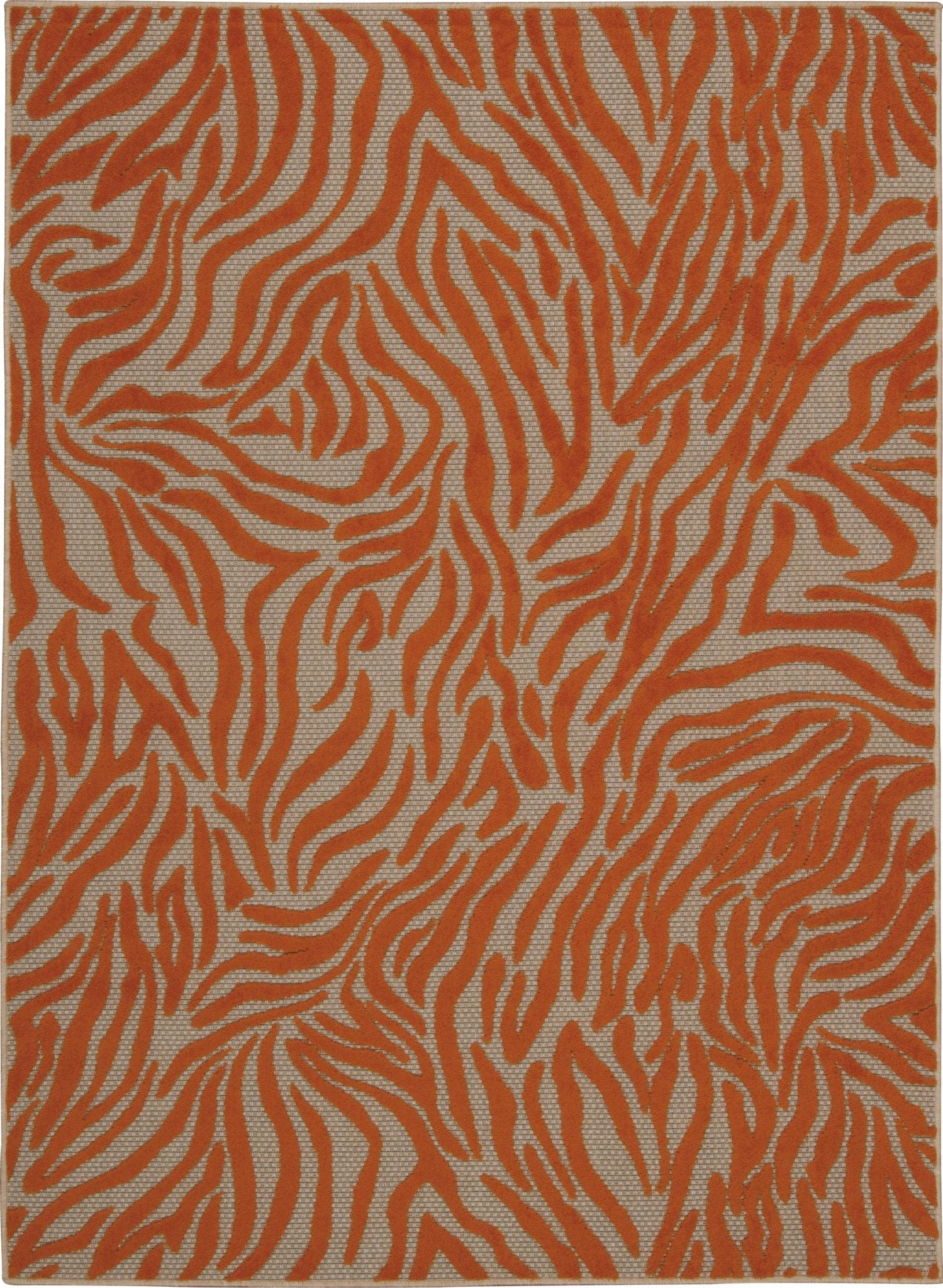 "Aloha Orange Indoor/Outdoor Rug - 4 Sizes Available Rugs Nourison 3'6"" x 5'6"" Area"