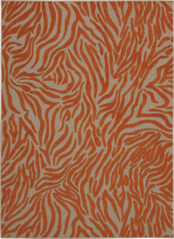 Aloha Orange Indoor/Outdoor Rug - 4 Sizes Available