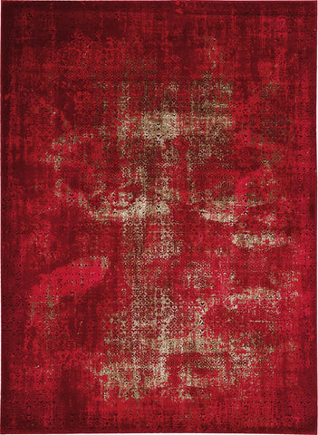 "Karma Red Rug - 9 Size and Shape Options Rugs Nourison 5'3"" x 7'4"""