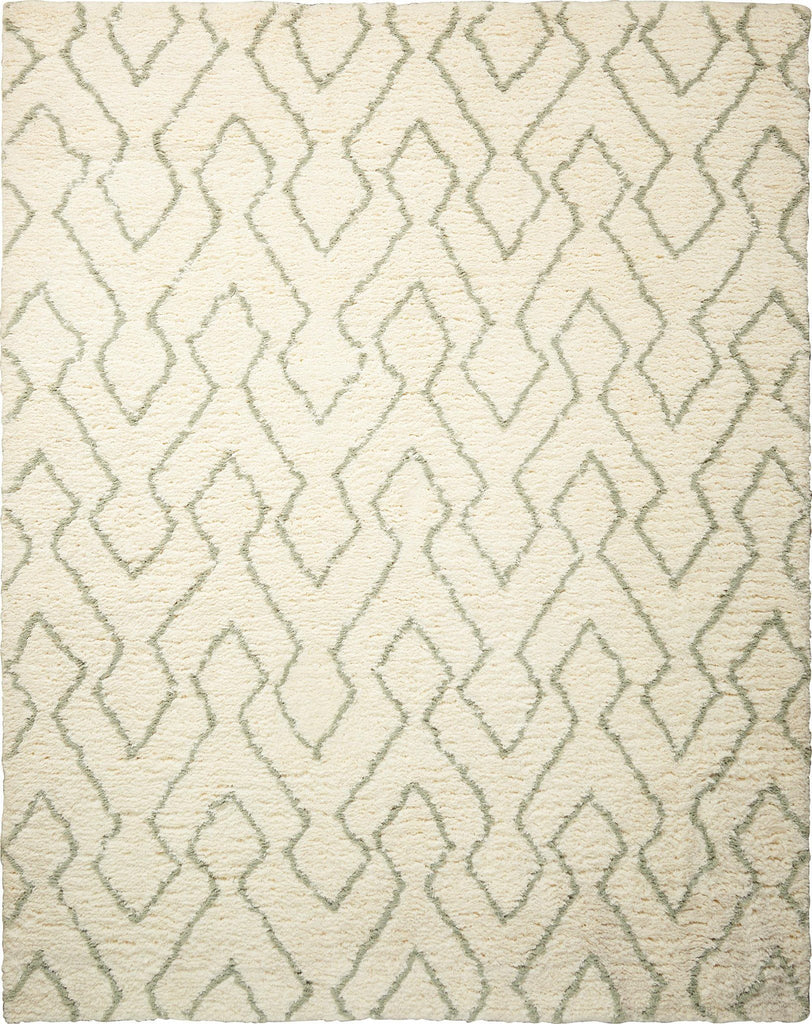 Galway Ivory Sage Shag Area Rug 5' x 7' Rugs Nourison Ivory