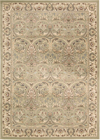 "Walden Light Green Rug - 5 Size Options Rugs Nourison 3'9"" x 5'9"" Accent"