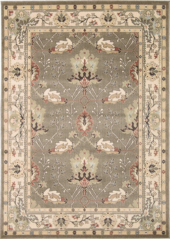 "Walden Grey Rug - 5 Size Options Rugs Nourison 3'9"" x 5'9"" Accent"