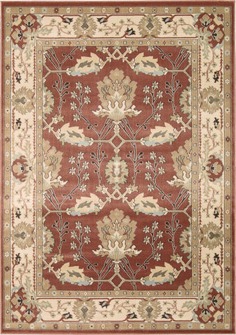 "Walden Brick Rug - 5 Size Options Rugs Nourison 3'9"" x 5'9"" Accent"