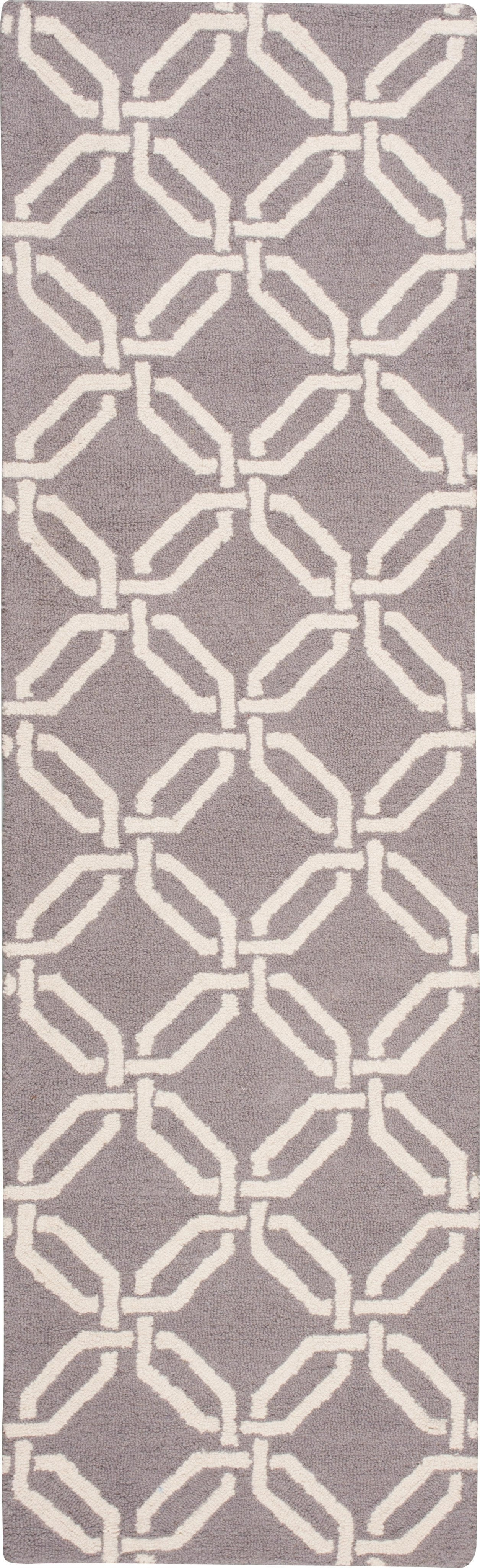 "Linear Silver Rug - 5 Size Options Rugs Nourison 2'3"" x 7'6"" Runner"