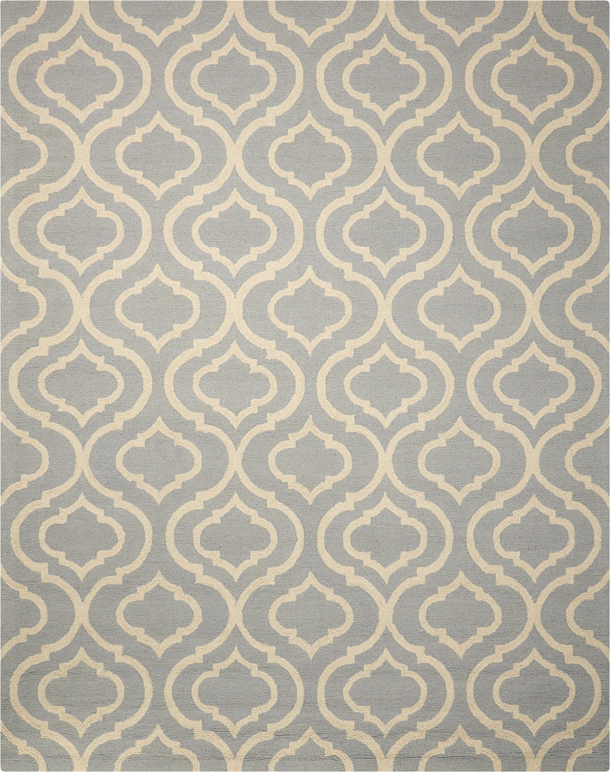 "Linear Light Blue Rug - 5 Size Options Rugs Nourison 3'9"" x 5'9"" Accent"