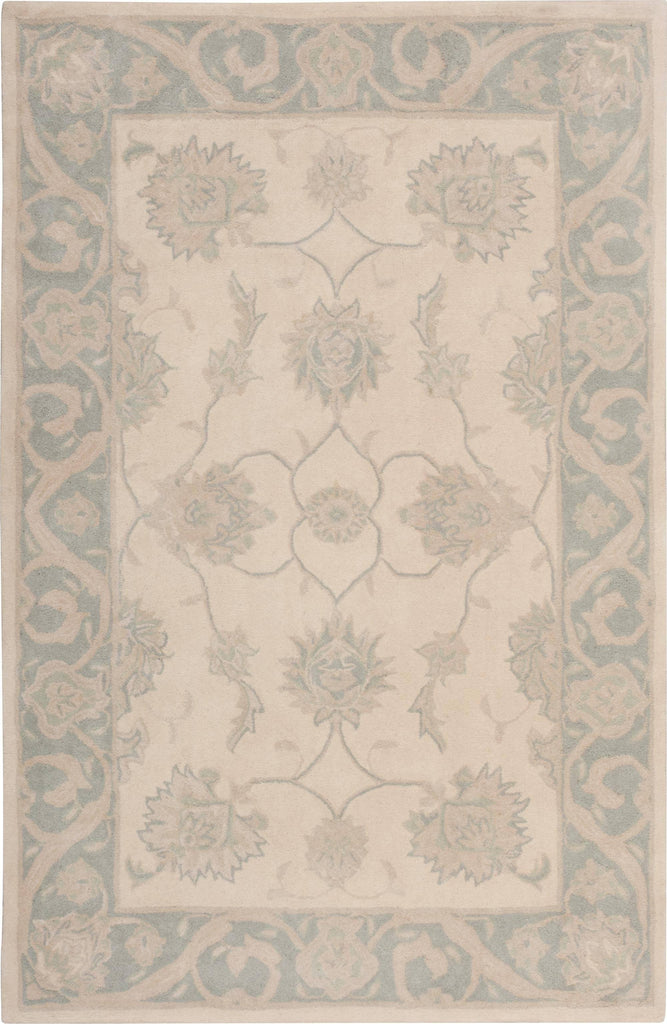 "Royal Serenity Hyde Park Ivory Blue Rug - 5'6"" x 7'5"" Area Rugs Nourison 5'6"" x 7'5"" Area"